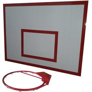 Баскетбольный щит металл 0,9м. х1,2м. с кольцом БК-100