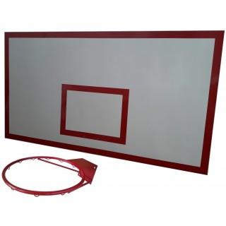 Баскетбольный щит металл 1,0м. х1,8м. с кольцом БК-100