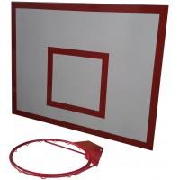 Баскетбольный щит металл 0,8м. х1,0м. с кольцом БК-100